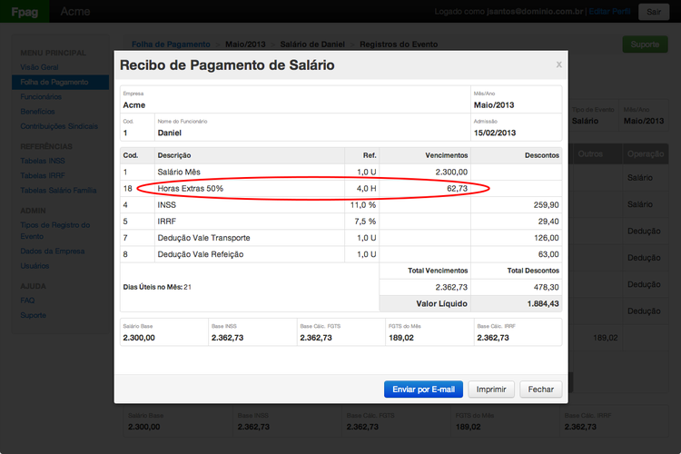Payroll   rows   receipt   overtime